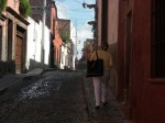 walking to town