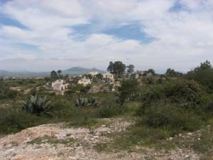 Hacienda in the distance
