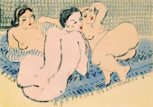Ladies on a Blue Carpet