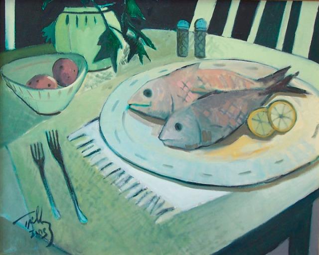 Still Life with Fish on Platter