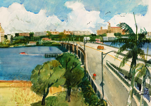 Royal Poinciana Bridge to Palm Beach