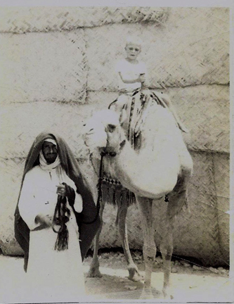 Tony Lytle riding camel