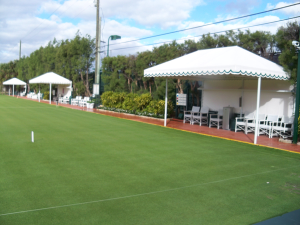 spectator area at croquet