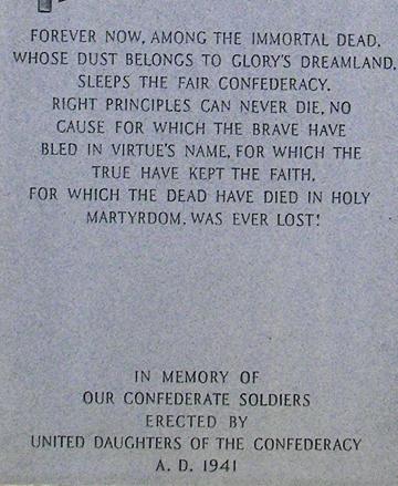 Front inscription