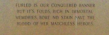 Monument back inscription