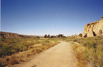Road into Chaco Canyon
