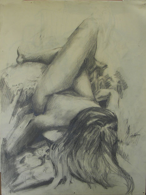 Figure Study, foreshortened