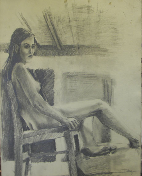 Seated Nude, pencil