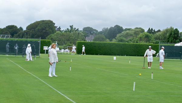 Tennis courts converted to croquet