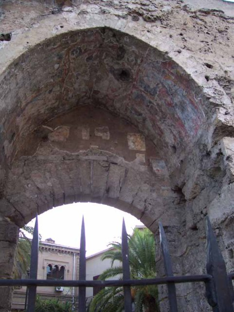 City Gate with remains of fresco -- Palermo