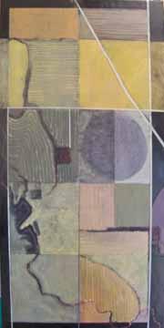 "Fields  Oil on Canvas 48 x 24"""