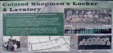 Colored Shopman's facilities