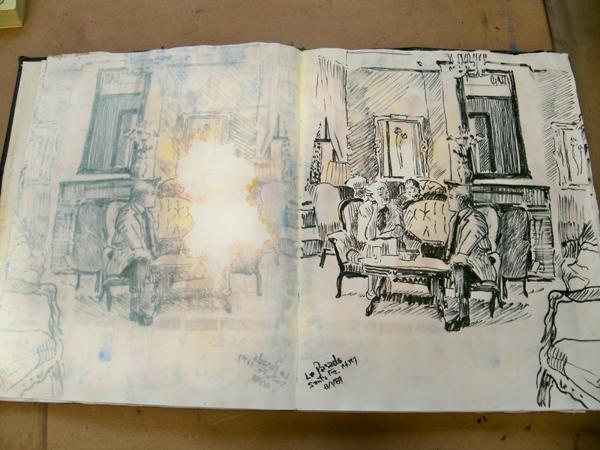 Drawing  La Pasado Hotel Santa Fe