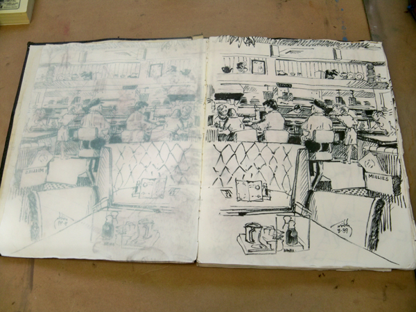 drawing  Millies in Long Beach