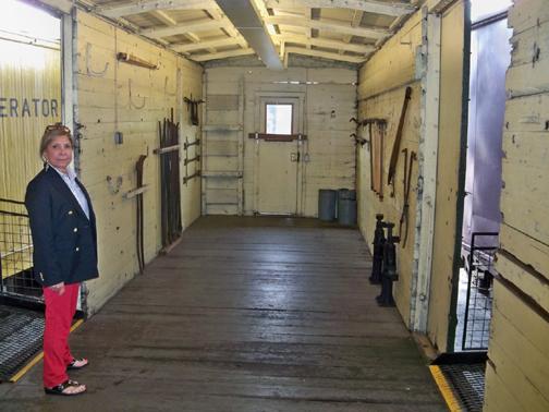 Inside Box car