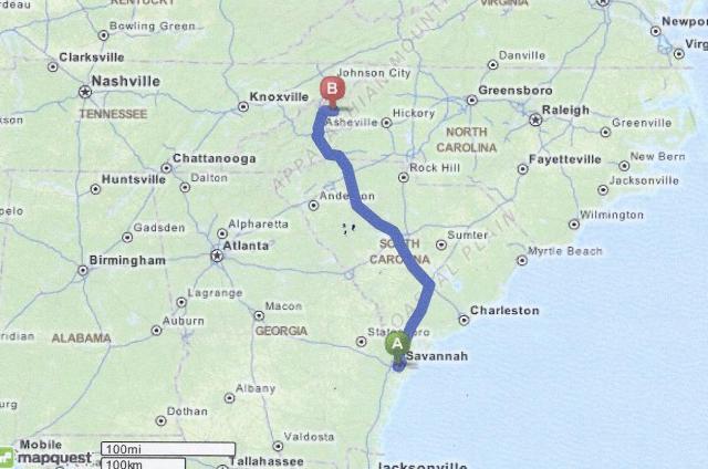 Savannah to Burnsville