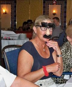 Joan at dinner