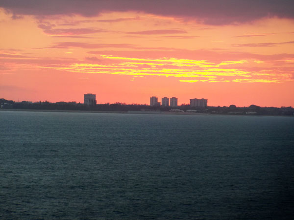 West Palm Beach as the sun set