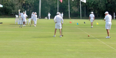 Doubles Play at the National Croquet Center