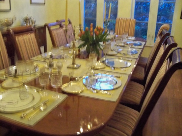 Table Being Set