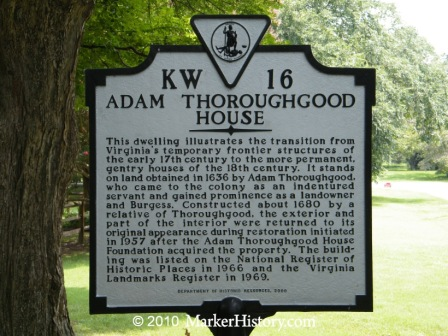 kw-16 adam thoroughgood house
