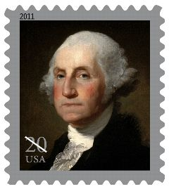 George Washington 20 cent stamp issued 2011