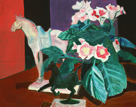 Painting of horse figurines  and still life tomtribby.wordpress.com