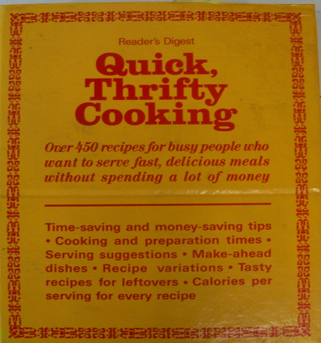Readers Digest Quick, Thrifty Cooking