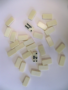 Dominos choosing who starts