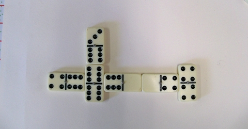 Dominos playing off the spinner