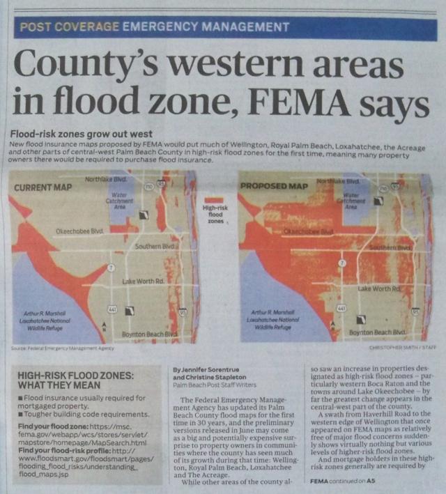 County's western areas in flood zone, FEMA says