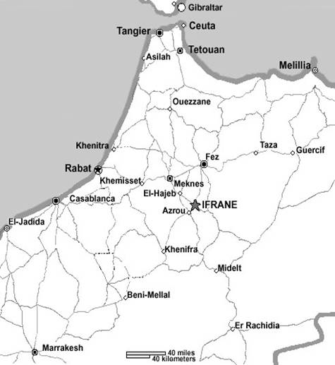 map of Ifrane