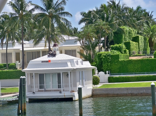 Residential Boat House and Hedges