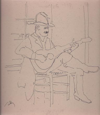 Chama musician drawing
