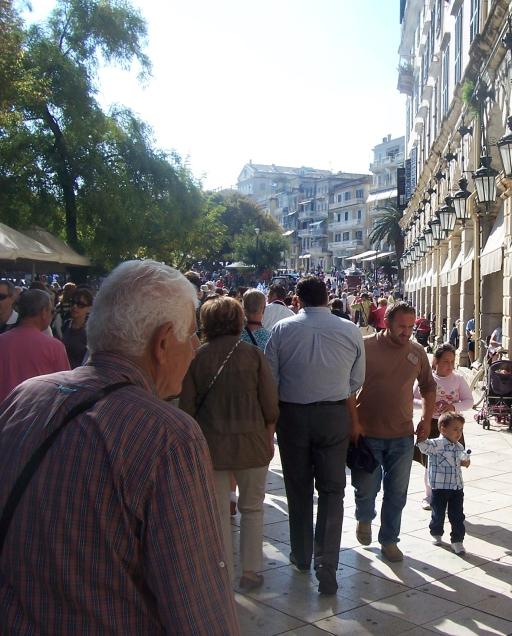 Corfu crowd