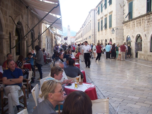 Restaurants on the Placa (Main Street)