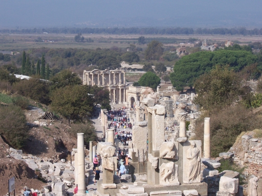 looking toward the Library pf Celsus