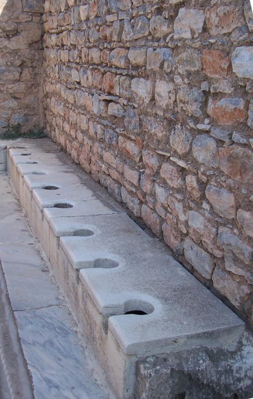 Toilettes near public baths