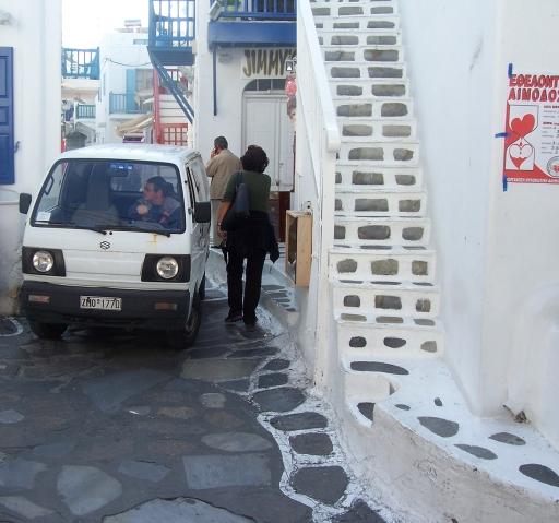 Mykonos  narrow streets