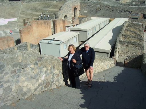 Pompeii  Jeanette and Dave enjoying their stroll