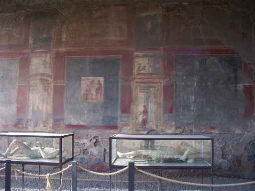 Pompeii  murals and body casts