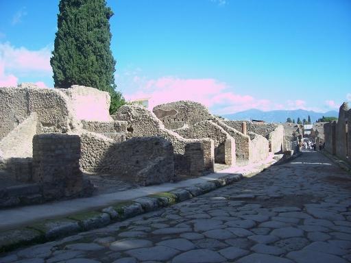 Pompeii  street scene