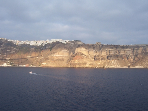 Santorini  As seen from the ship