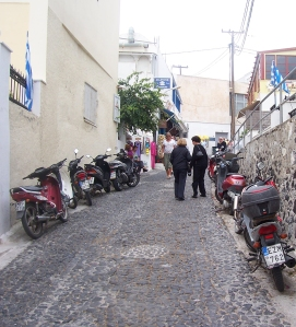 narrow cobble stone streets