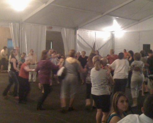 Greek Festival people dancing