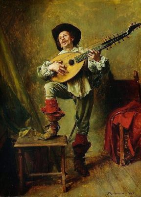 The Theobo Player by Ernest Messionier