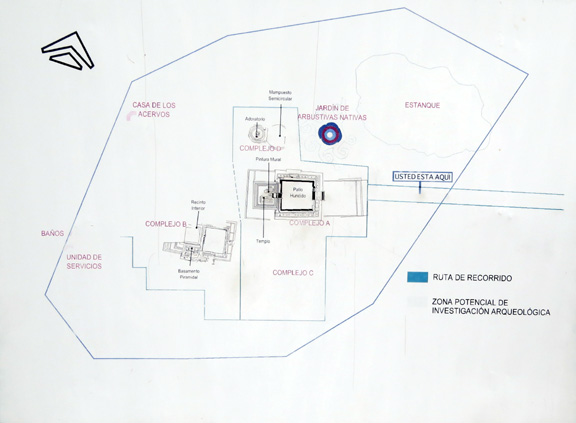 diagram of archeological site