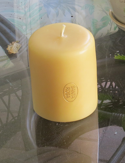 candle 5 inches in diameter