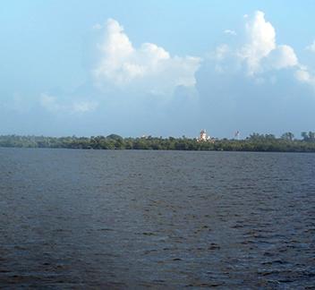 Looking across the waterway