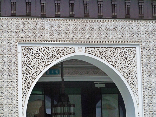 Example of the ornate carved plaster or stucco